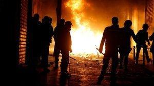 Madrid sokakları savaş alanına döndü