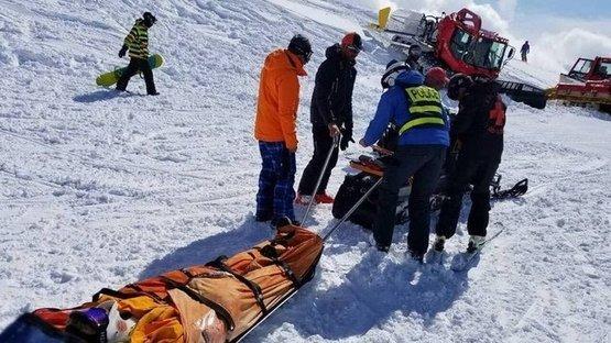 Arızalanan telesiyej yolcuları fırlattı: 10 yaralı