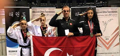 Taekwandoda 3 altın madalya!
