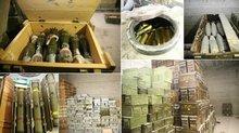 Afrin'de 12 odalı yer altı mühimmat deposu bulundu!