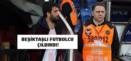 Başakşehir-Beşiktaş maçının devre arasında gerginlik! Arda Turan'a küfür edildi
