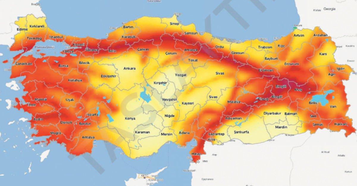 Türkiye'nin yenilenen deprem haritası elektronik ortama aktarıldı
