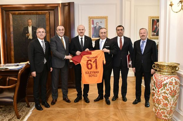 Galatasaray'dan Bakan Soylu ve Bakan Özhaseki'ye ziyaret