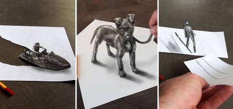 Ramon Bruin'in çizimleri kağıtlara sığmıyor!