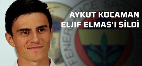 Fenerbahçe Teknik Direktörü Aykut Kocaman, Eljif Elmas'ı sildi!