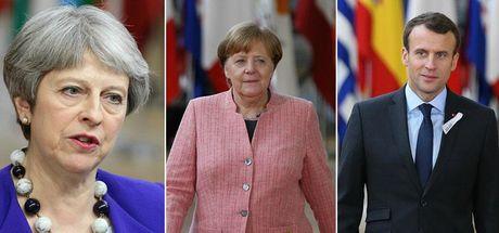 May, Macron ve Merkel Rusya'yı görüştü