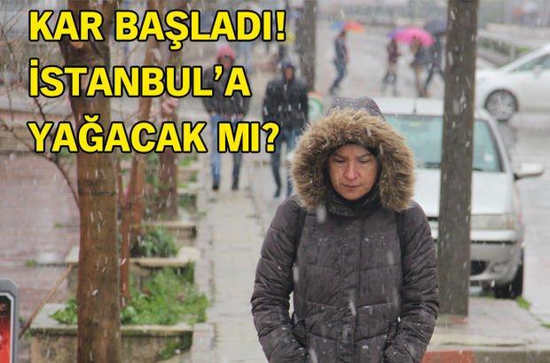Kırklareli'ye kar yağdı! İstanbul'a da kar yağacak mı? (Hava Durumu son dakika)