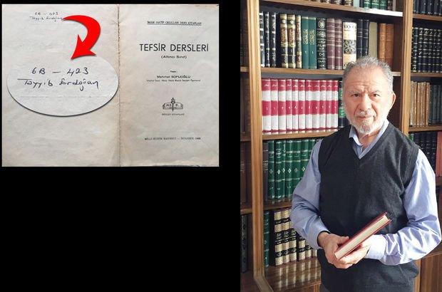 Cumhurbaşkanı Erdoğan'ın kitabını 45 yıl sonra buldu