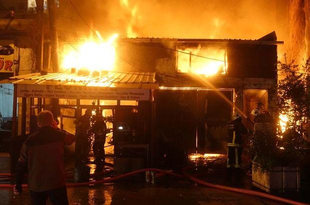 Bursa'da bir ev ve iki iş yerinde yangın çıktı
