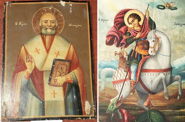 Tarihi 11 ikonayı satmak isteyen 2 kişi yakalandı! İkonalar Ayasofya Müzesi'ne teslim edildi