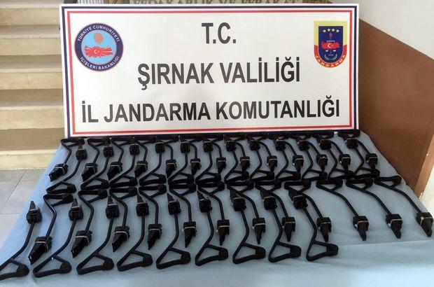 Şırnak'ta PKK'ya ait Kalaşnikof dipçikleri ele geçirildi