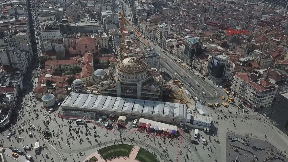 Taksim Camii'nde son durum!