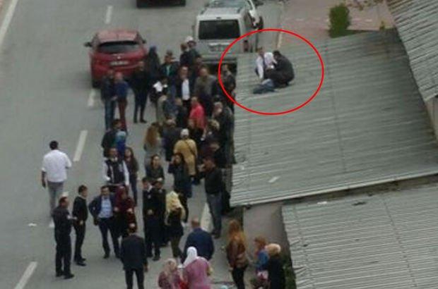 Kayseri'de korkunç kaza! Çatıya uçtu, o anlar kamerada