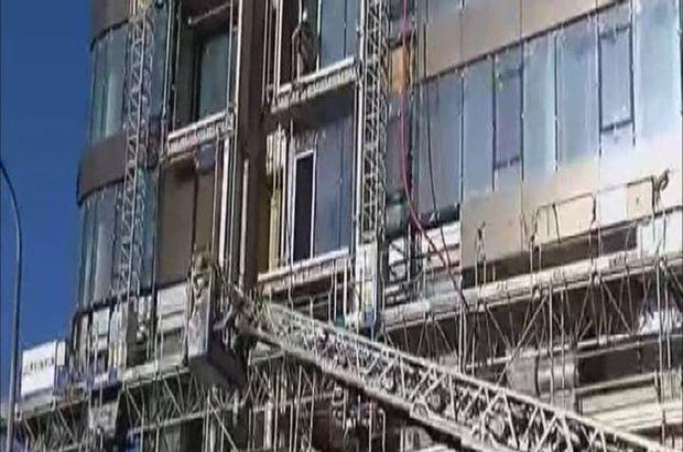 Fikirtepe'de rezidans inşaatında yangın