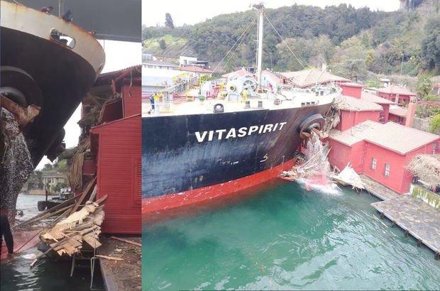 Geminin çarptığı Hekimbaşı Salih Efendi Yalısı'nda yeniden yapım çalışmaları başladı…