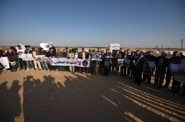 İsrail'in ABD Büyükelçiliği önünde Gazze protestosu