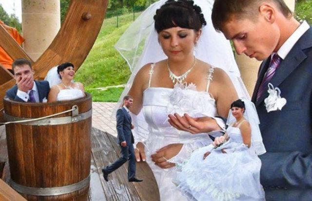 Rusların garip düğün fotoğrafları!