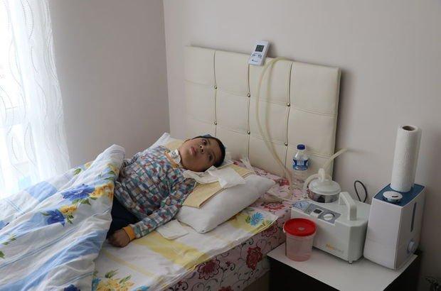 Kas hastası çocuğa itfaiyeden jeneratörlü destek