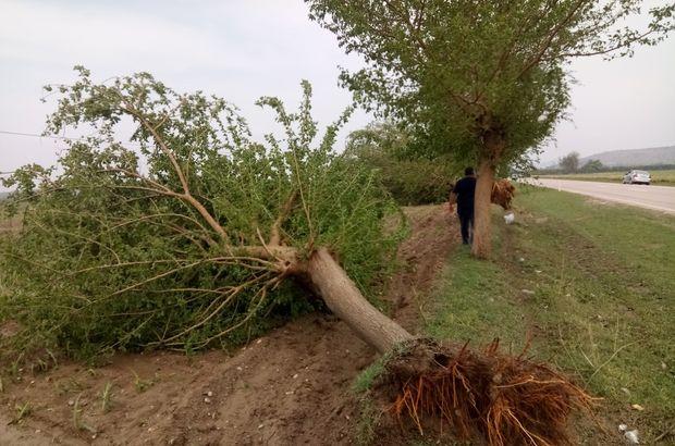Ağaçları yerinden söktü, evlere su bastı!