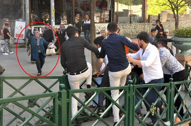 Eskişehir'de gençlerin kavgasını kadınlar ayırdı