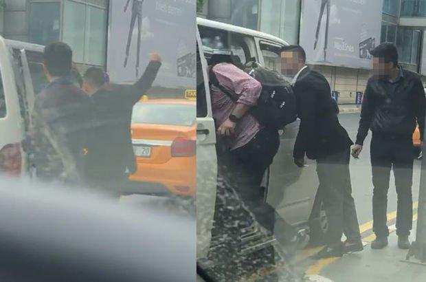 Atatürk Havalimanı'nda UBER aracına saldırı! Yolcuyu zorla indirmeye kalktılar