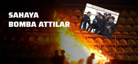 Futbol sahalarında görülmemiş olay! Sahaya bomba attılar!