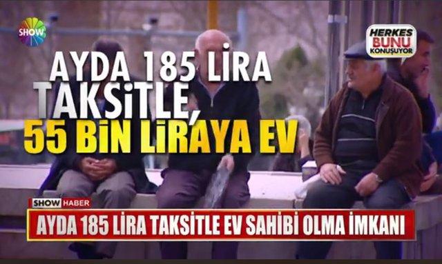 Ayda 185 lira taksitle 55 bin TL'den başlayan fiyatlarla ev sahibi olun! (TOKİ)