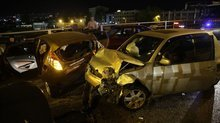 Ankara'da zincirleme kaza! 10 araç birbirine girdi