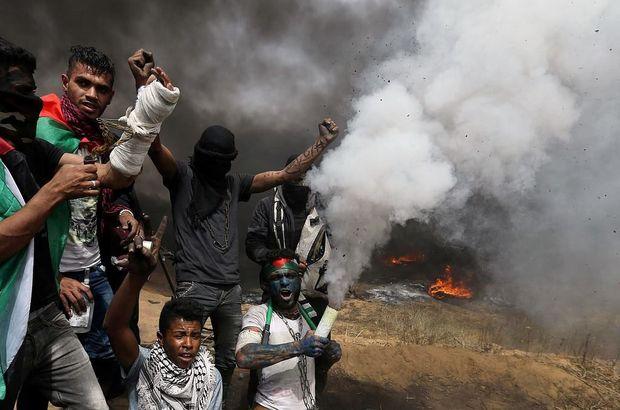 Gazze'de büyük dönüş yürüyüşünde 2 Filistinli öldü