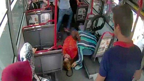 Otobüste kalp krizi geçirdi... Şoför ve yolcular böyle seferber oldu!