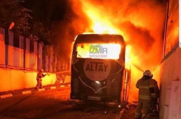 Altay'ın takım otobüsü yandı