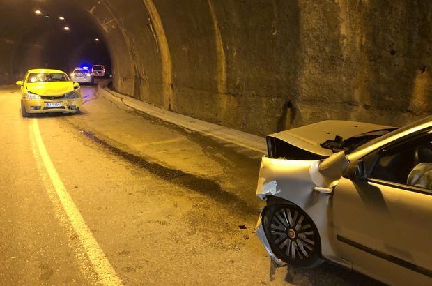 Trafiğe kapalı tünelde feci kaza!