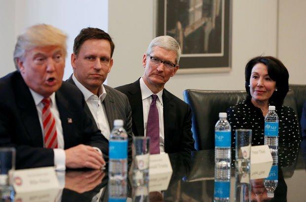 Donald Trump ve Tim Cook'tan gizli toplantı!