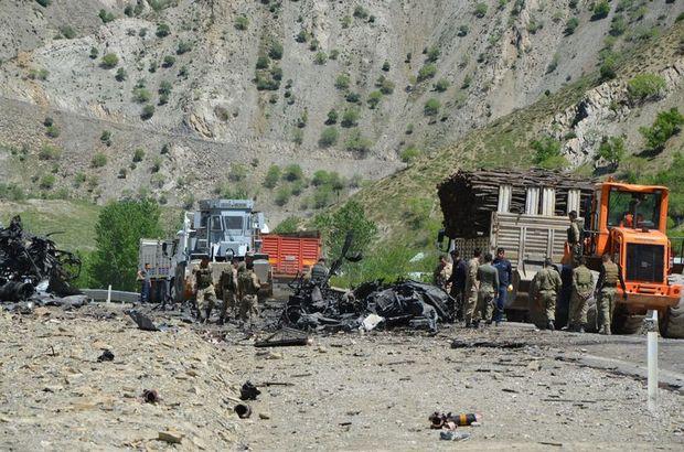Mühimmat taşıyan TIR'da önce yangın sonra patlama