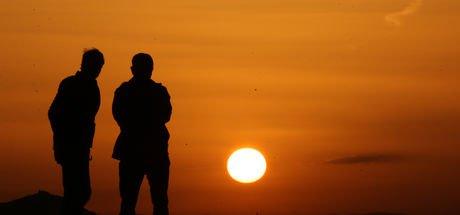 """Kapadokya'da doğanın gösterisi: """"Gün batımı"""""""