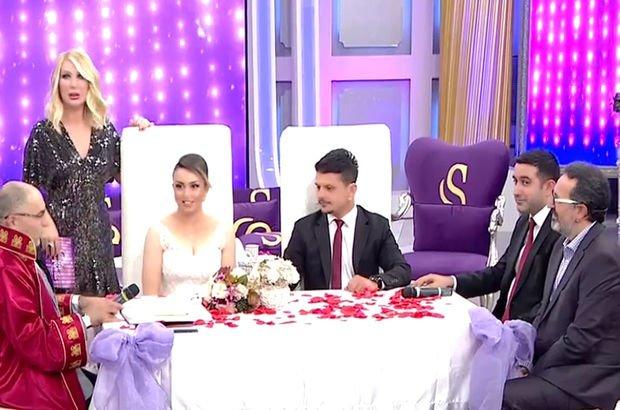 Nikâhı iptal edilen çift, Seda Sayan'ın programında evlendi!