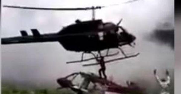 Kolombiya kurtarma helikopteri düştü