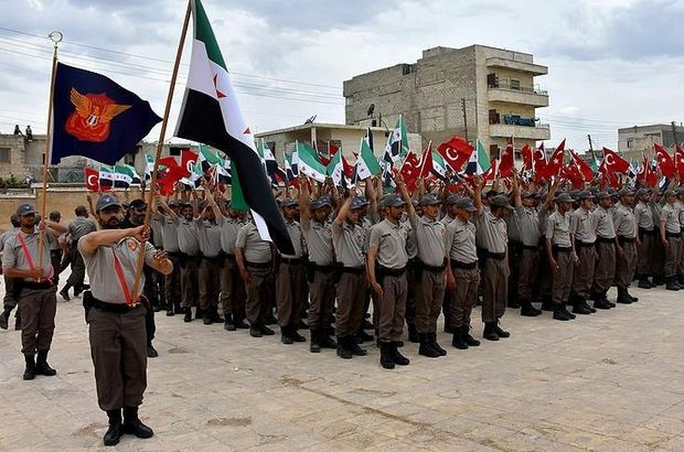 Türkiye'nin Azez'de eğittiği 200 polis mezun oldu