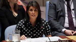 ABD'nin BM Daimi Temsilcisi Haley'den 'canlı kalkan'a kınama