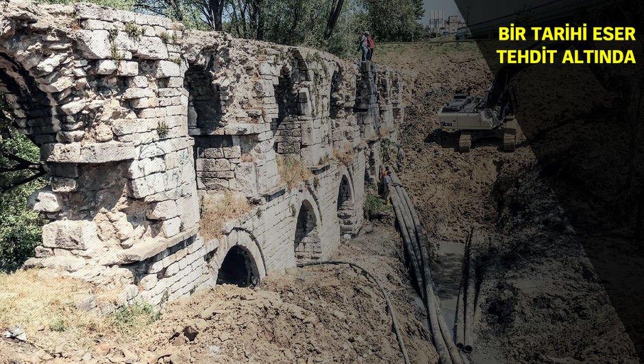 228 yıllık kemeri toprağa gömdüler