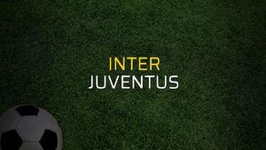 Inter - Juventus maçı istatistikleri