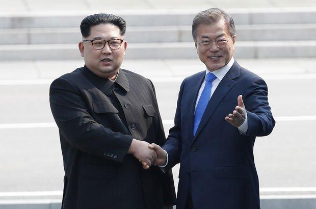 Kuzey Kore ve Güney Kore liderleri bir araya geldi!