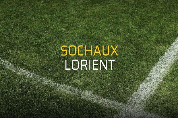 Sochaux - Lorient maçı rakamları