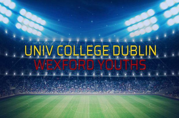 Univ College Dublin - Wexford Youths karşılaşma önü
