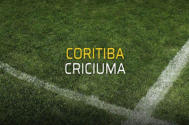 Coritiba - Criciuma maçı rakamları