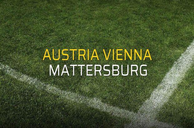 Austria Vienna - Mattersburg maç önü