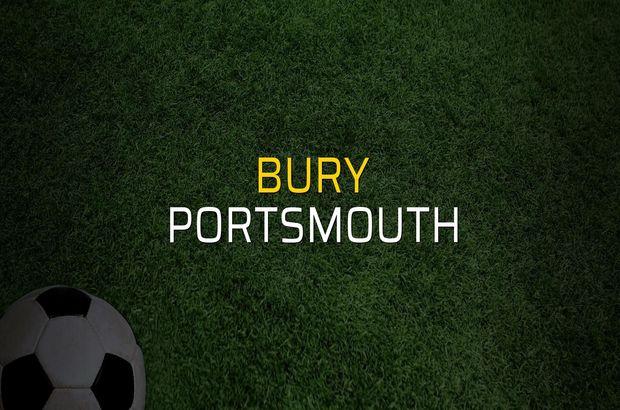 Bury - Portsmouth maçı öncesi rakamlar