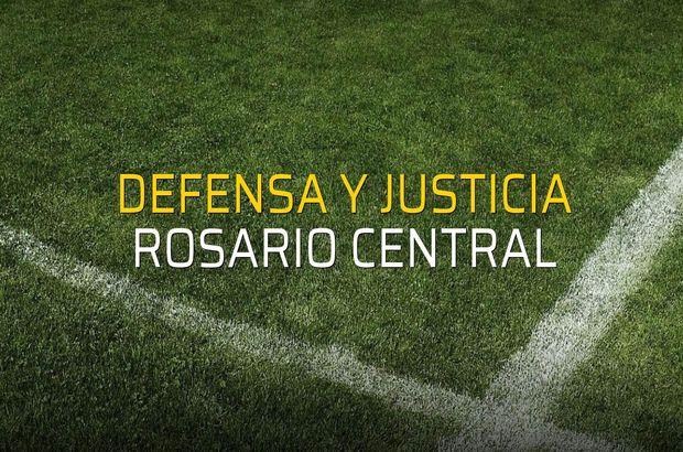 Defensa y Justicia - Rosario Central düellosu