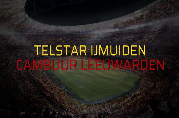 Telstar Ijmuiden - Cambuur Leeuwarden sahaya çıkıyor