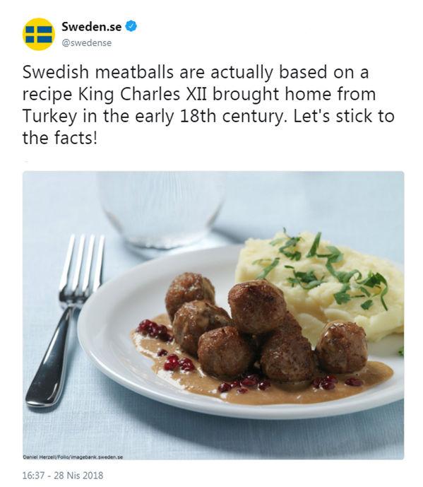 İsveç'ten 'Türk köftesi itirafı'